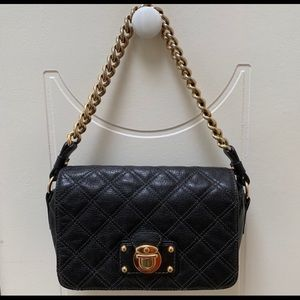 Marc Jacobs Leather Quilted Bag - Gold Chain